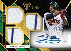 2016 Topps Triple Threads Miguel Sano Rookie Phenom autograph