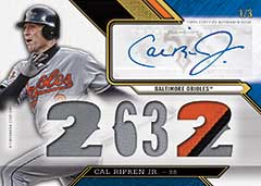 Cal Ripken auto relic 2016 Topps Triple Threads