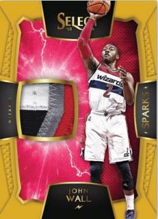 2015-16 Select Basketball John Wall Sparks relic