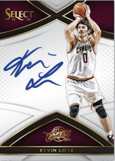 2015-16 Select Basketball Kevin Love autograph