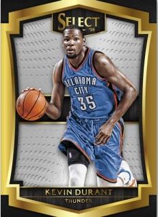Kevin Durant card 2015-16 Panini Select