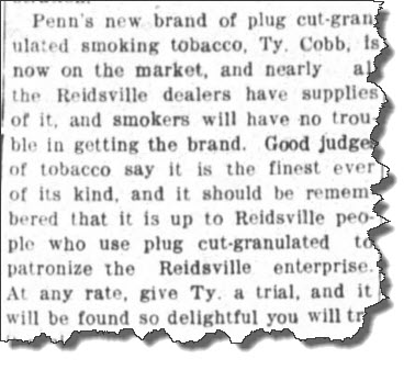 Cobb tobacco newspaper
