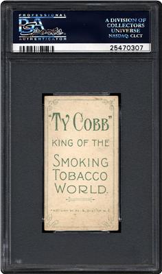 Ty Cobb tobacco back