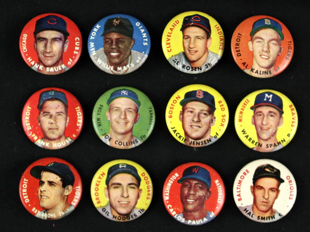 1956 Topps Pins