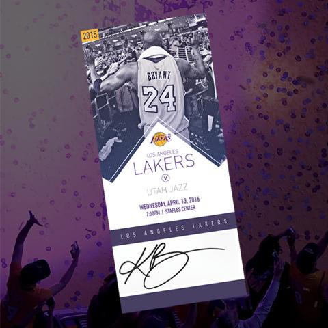 Autographed Kobe Bryant commemorative ticket raffle