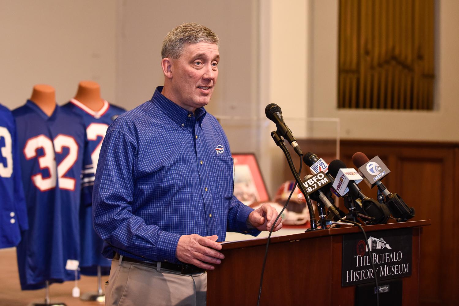 Buffalo Bills collector Greg Tranter