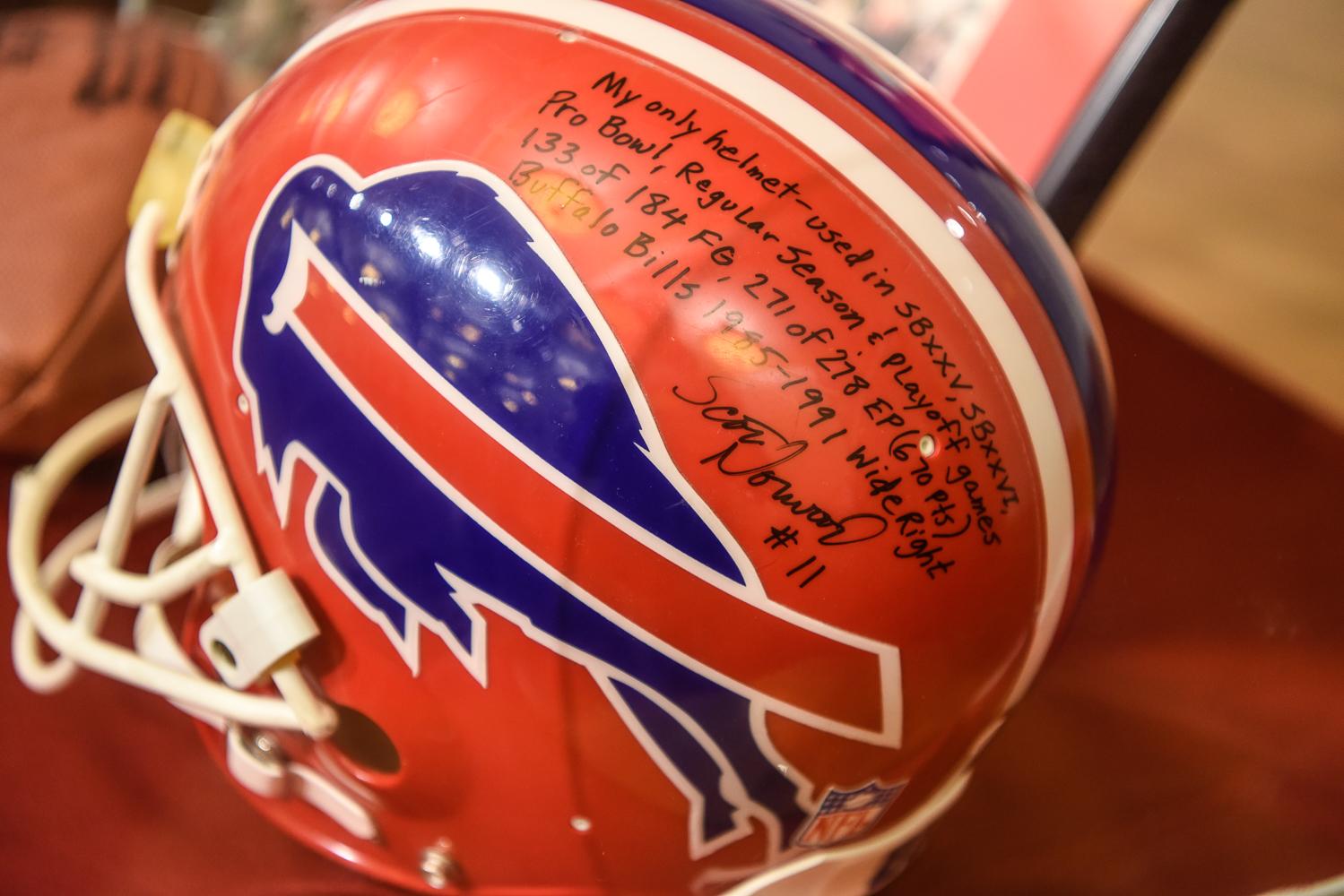 Bills helmet Scott Norwood autographed inscribed