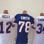 Game worn Buffalo Bills jerseys autographed