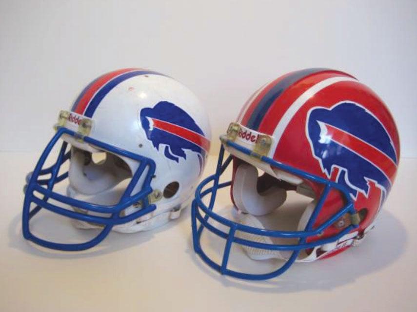 Buffalo Bills game worn helmets