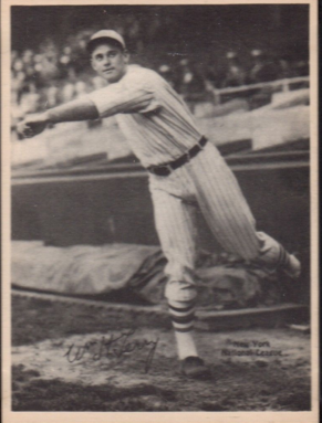 1929 Kashin Publications Bill Terry card