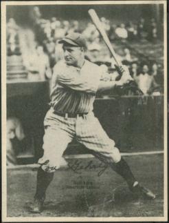 1929 Kashin Lou Gehrig card