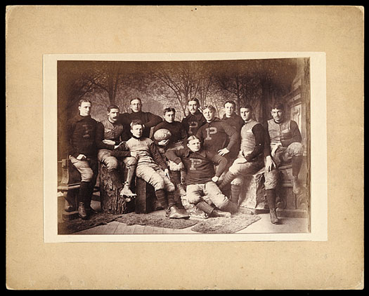 Imperial cabinet card (8x10 inches) of the 1893 Princeton University football team