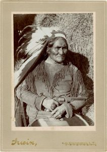 Cabinet card of legendary Apache warrior and leader Geronimo