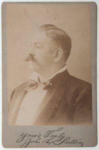 1890s cabinet card of boxing champ John L. Sulliivan with faux signature