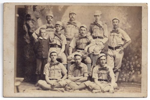 Cabinet Card of an 1800s baseball team
