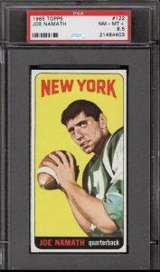 Joe Namath rookie card