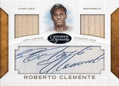 2016 Topps Dynasy Baseball Roberto Clemente Dual Relic autograph card