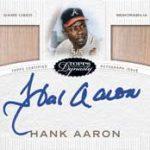 Hank Aaron relic autograph 2016 Topps Dynasty Baseball