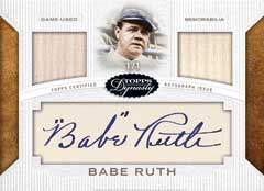 Babe Ruth cut auto 2016 Topps Dynasty