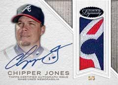 2016 Topps Dynasty Chipper Jones auto relic