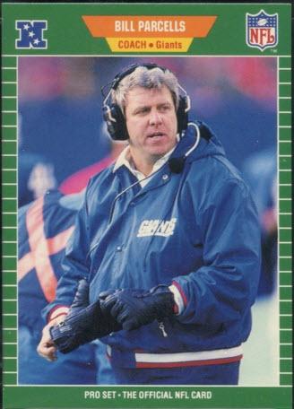Bill Parcells rookie card 1989 Pro Set