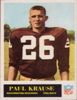 Paul Krause rookie card 1965