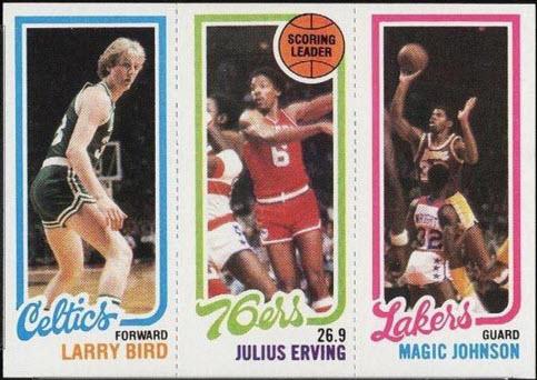 1980-81 Topps Larry Bird-Magic Johnson rookie card
