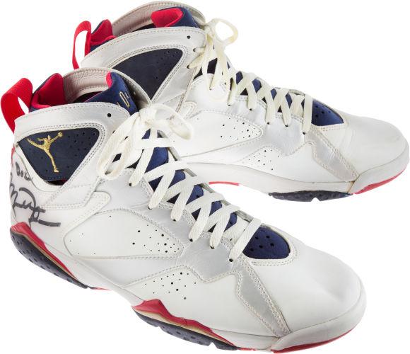 Signed Michael Jordan shoes