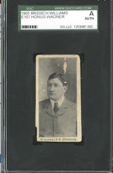 Breisch-Williams Honus Wagner card 1903