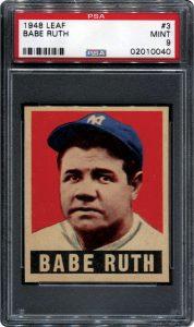 Babe Ruth 1948-1949 Leaf PSA 9