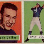 Johnny Unitas rookie card PSA 9