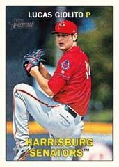 Lucas Giolito 2016 Topps Heritage Minors