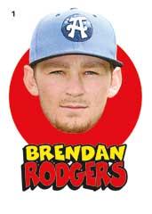 Brendan Rodgers 2016 Topps Heritage Miniors sticker insert