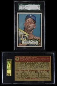 Mickey Mantle 1952 Topps SGC 60