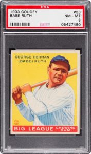 Babe Ruth 1933 Goudey 53