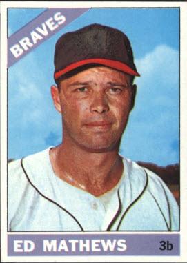 Eddie Mathews 1966 Topps