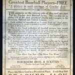 Back of 1915 Cracker Jack baseball card poster
