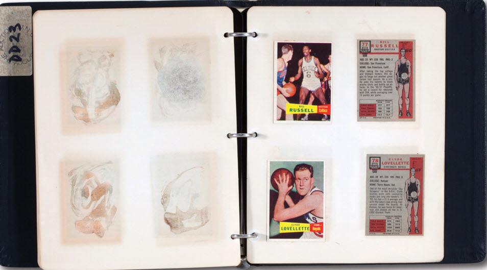 Topps 1957-58 basketball card file binders