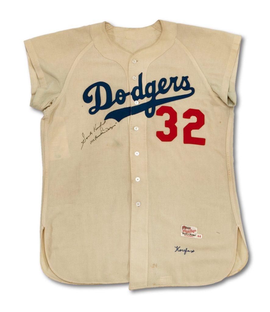 Sandy Koufax 1956 jersey