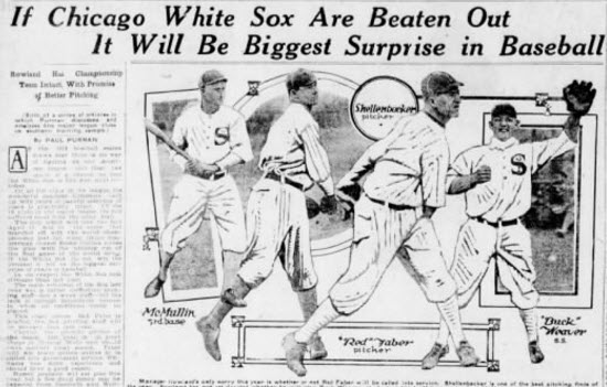 1918 newspaper sports section