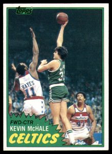 Kevin McHale rookie card 1981-82 Topps