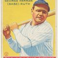 Babe Ruth 1933 Goudey baseball card
