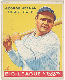 Babe Ruth 1933 Goudey baseball card