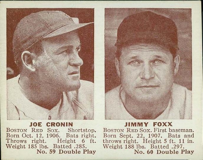 Jimmie Foxx-Joe Cronin 1941 Double Play