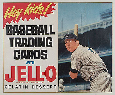 Jello baseball card ad