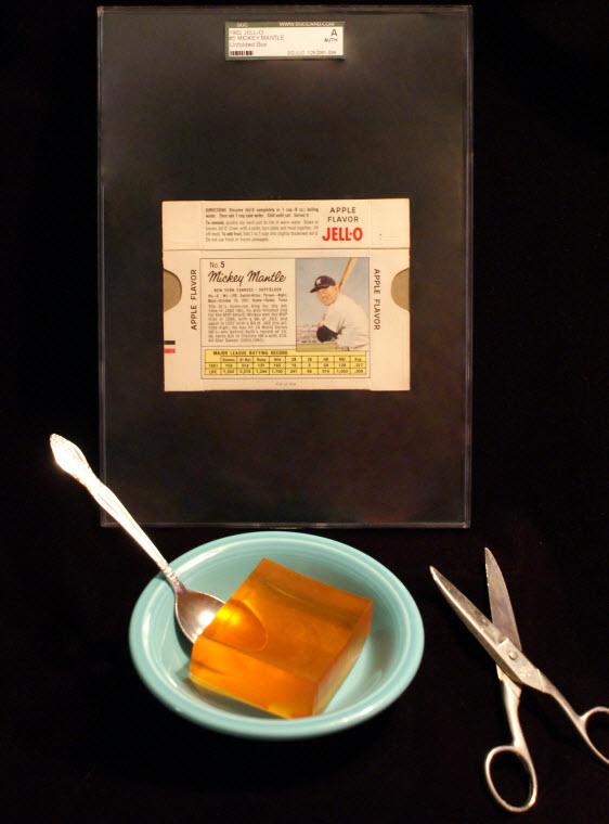 Mickey Mantle 1962 Jello box