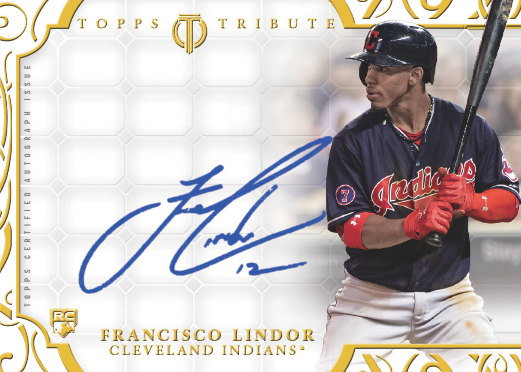 Lindor autographed Topps Tribute 2015 mystery redemption