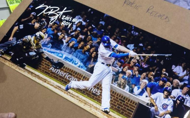 Autographed Kris Bryant photo