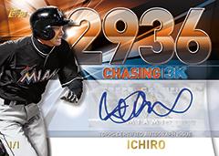 2016 Topps Update Series Ichiro Chasing 3000 autograph