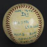 First home run ball Dick Williams